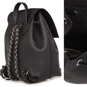 Topshop chain strap faux mini backpack